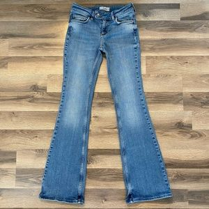 Free People Flare Blue Jeans